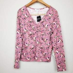 Forever 21 floral long sleeves top plus size 2X